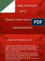 Forma Para Optimizar Mi Pc Lorena