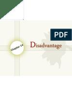 Chapter 14 - Disadvantage