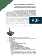 Spesifikasi Terminal Fax FWT Huawei ETS 1201