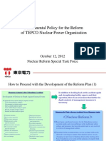 Fundamental Policy for the Reform of TEPCO Nuclear Power Organization
