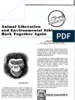 Animal Liberation and Environmental Ethics- Back Together Again