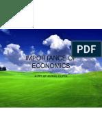 Importance of Economics