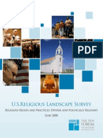 U.S. Religious Landscape Survey June 2008