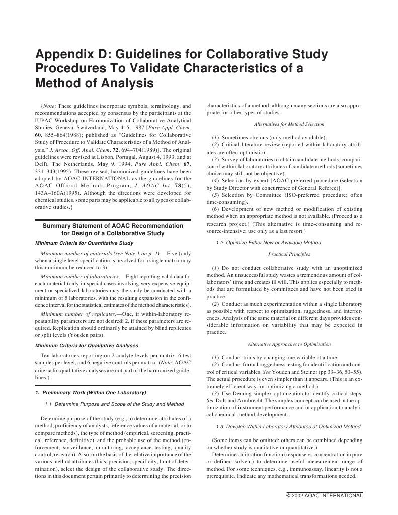 guidelines for collaborative study procedures to validate rh scribd com USP Method Validation Process Validation Machine