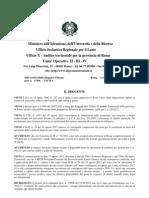 Pubblicazione del decreto di rideterminazione del contingente dei posti di sostegno – a.s. 2012/13