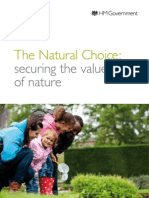 Natural Choice - the government's Environment White Paper (Published July 2012)