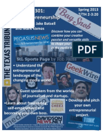 Flier for Media Entrepreneurship class - Spring '13