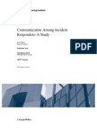 Communication Among Incident Responders - A Study