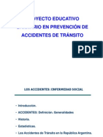Proyecto Educativo Sanitario en Prevencion de Accidentes de