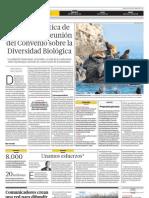 La problemática de los mares en reunión del Convenio sobre la Diversidad Biológica