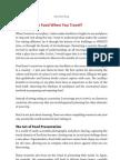 The Food Traveler's Handbook - Sample Chapter