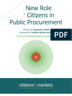 Citizens and Markets – A New Role for Citizens in Public Procurement