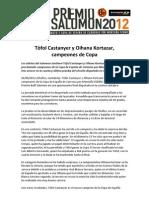 Tofol Castanyer y Ohiana Kortazar campeones Copa españa Carreras por Montaña FEDME 2012