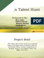 College Presentation - Lipton Talent Hunt1