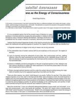 Gopi Krishna Prana as Energy of Consciousness