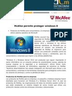 McAfee permite proteger windows 8