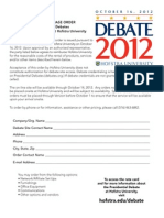 Debate Form Ratecard