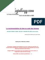 La Re Command at Ion Du Bien Au Sujet Des Femmes