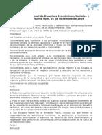 Pacto Internacional de Derechos Económicos, Sociales y Culturales. Nueva York, 16 de diciembre de 1966