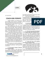 Coach Ferentz 10 16 12