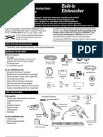 GE built-in dishwasher Guide