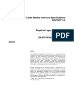 Data Over Cable Service Interface Specifications Physical Layer Specificaction