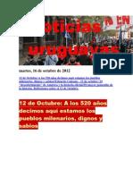 Noticias Uruguayas miércoles 17 de octubre del 2012