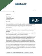 Katz's letter to city council