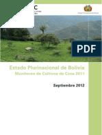 Bolivia; Monitoreo de Cultivos de Coca 2011