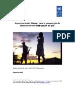 Importancia del diálogo para la prevención de conflictos y la construcción de Paz