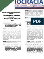 Barómetro Legislativo Diario del martes, 16 de octubre de 2012