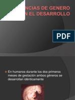 Diferencias de Genero en El Desarrollo