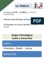 Tema 1. LA FAMILIA. Derecho de Familia