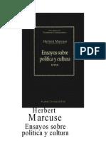 Marcuse Herbert - Ensayos Sobre Politica Y Cultura