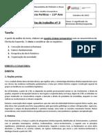 Ciência política, Ficha de trabalho nº 3