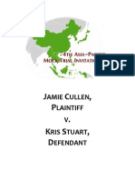 4th Asia-Pacific Mock Trial Invitational Case
