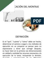 PLANIFICACIÓN DEL MONTAJE 2