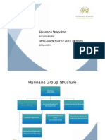 Hannans Quarterly Report 2011 | Q3