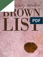 Brown List 2012