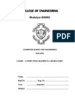 CS2405 Cg Lab Manual