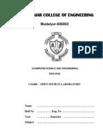 CS2406 OS Lab Manual