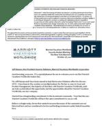 Marriott Vacation Worldwide Transcript 10-28-11