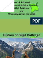 Role of Politic and Govt in Gilgit& Nationalism
