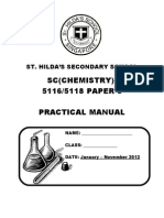 Chemistry Practical Manual 2012