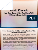 David Kissack Has Held Several Key Positions With Different Organizations