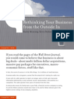 Rethinking Your Business from the  Outside In [Issue 99]