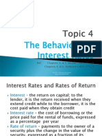 4. the Behaviour of Interest Rates