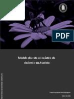 Modelo discreto estocástico de  dinámica mutualista