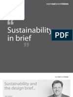 Sustainability in brief