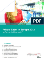 Private Label in Europe 2012 Is there a limit to growth?